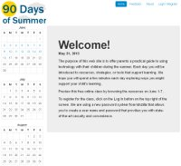 Screenshot of 90 Days of Summer website